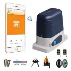 Kit Automatizare Smart Wifi Poarta Culisanta 800kg cu Fotocelule si Lampa