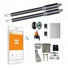Kit Automatizare Porți Batante Smart Wifi 150kg/brat cu Fotocelule si Lampa
