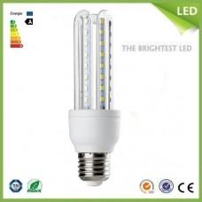 Bec LED 9W E27 3U Alb rece