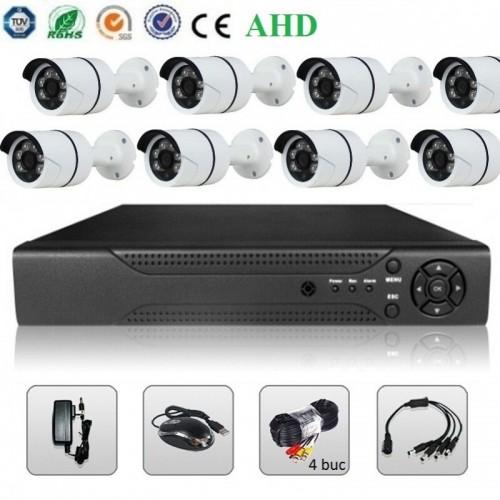 Sistem Supraveghere Video - 8 Camere AHD + DVR 2MP