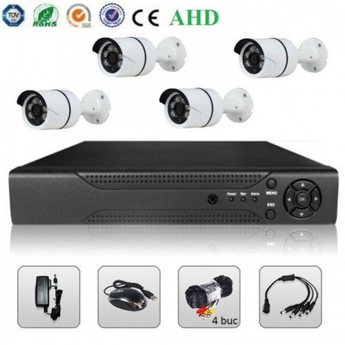 Sistem Supraveghere Video - 4 Camere AHD & DVR 2MP