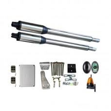Kit Automatizare Porți Batante 200kg/brat cu Fotocelule si Lampa