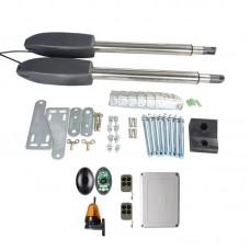 Kit Automatizare Porți Batante 300kg/brat cu Fotocelule si Lampa
